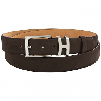 mocha brown nubuck leather belt