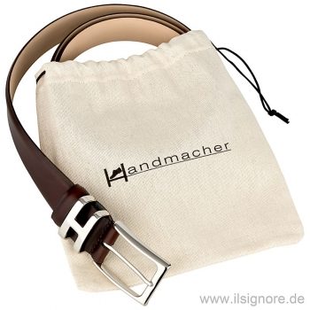 Handmacher belt from pull up leather oxblood