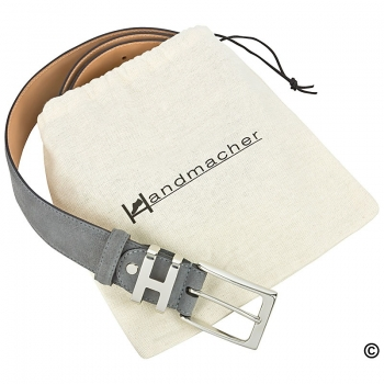 Handmacher grey suede belt