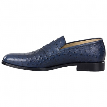 Handmacher navy blue loafers