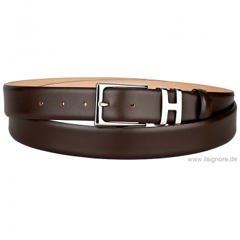 Handmacher boxcalf belt mocha brown