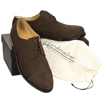 Handmacher model 11 nubuck leather dark brown