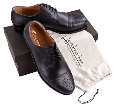 Handmacher model 12 in black calf leather