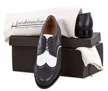Handmacher model 14 calfskin black & white