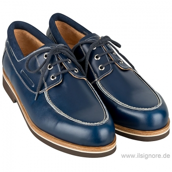 Handmacher model 18 calfskin blue