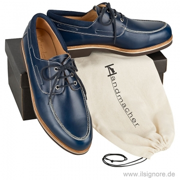 Handmacher model 18 blue calfskin