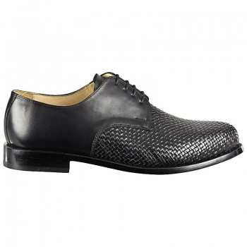 men woven leather shoes