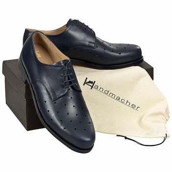 Handmacher model 26 calfskin blue