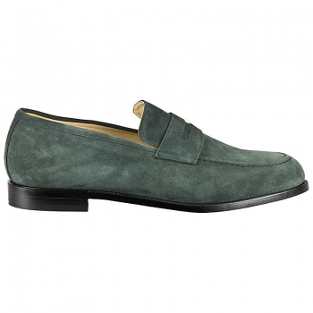 Loafer shoes suede green