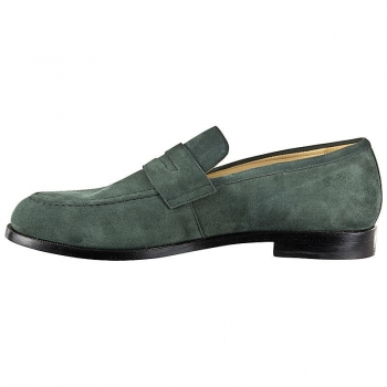 Loafer shoes for men suede green