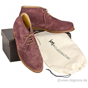 Handmacher model 72 suede vinous