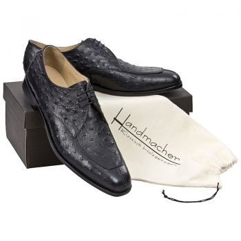 Handmacher model 85 black ostrich leather look