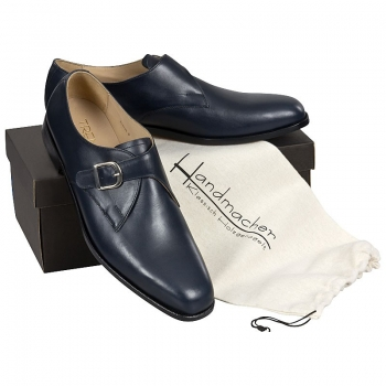 Handmacher model Trend 84 calfskin blue