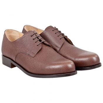 plain derby shoes scotch grain brown