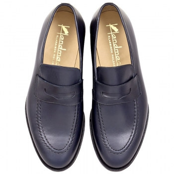 Handmacher model 55 calfskin blue