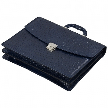 Handmacher blue leather bags