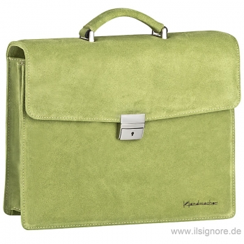 Green suede bag