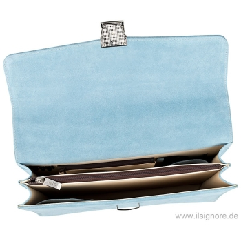 Handmacher bag light blue leather
