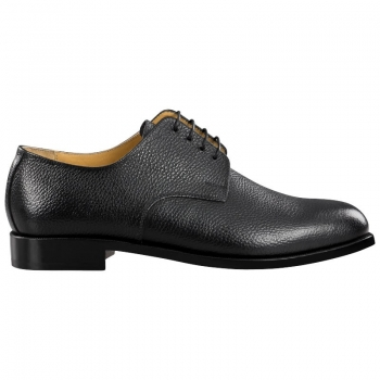 Black derby shoes by Handmacher