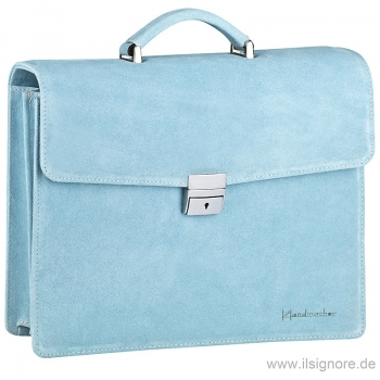 Light blue leather bag