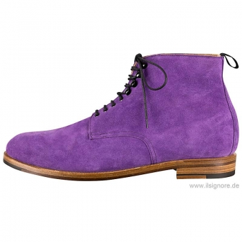 Men boots made of purple suede by Handmacher