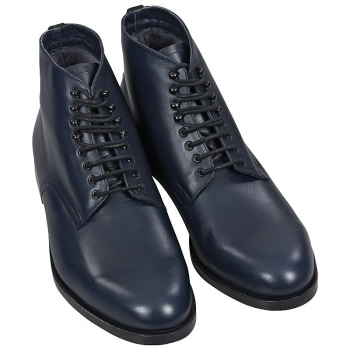 Handmacher men boots navy blue