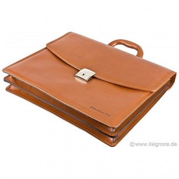 Handmacher cognac leather handbag