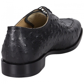 Handmacher model Trend 85 black leather in ostrich look