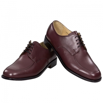 derby shoe in red calfskin