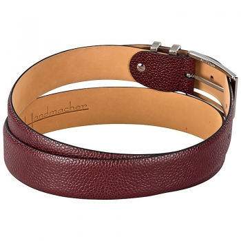 red leather belt by Handmacher