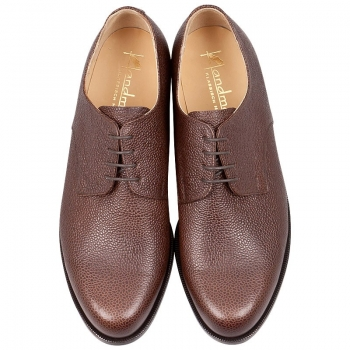 plain derby shoes scotch grain