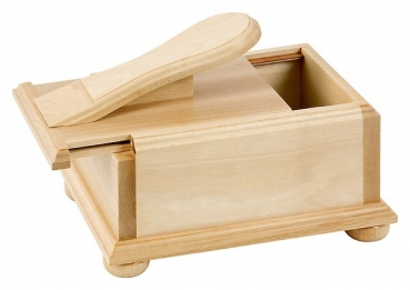 wooden shoe box with sliding lid