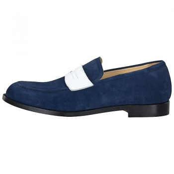 Handmacher model 55 blue suede