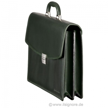 Handmacher bag green leather