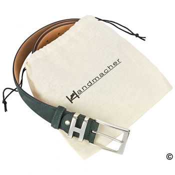 Grren suede belt by Handmacher