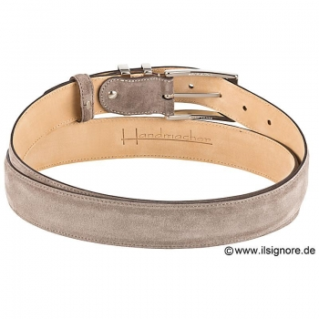 taupe suede belt handcrafted