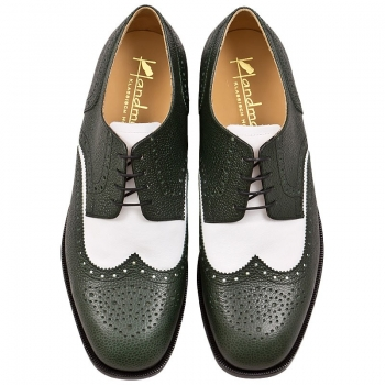 Handmacher green white shoes
