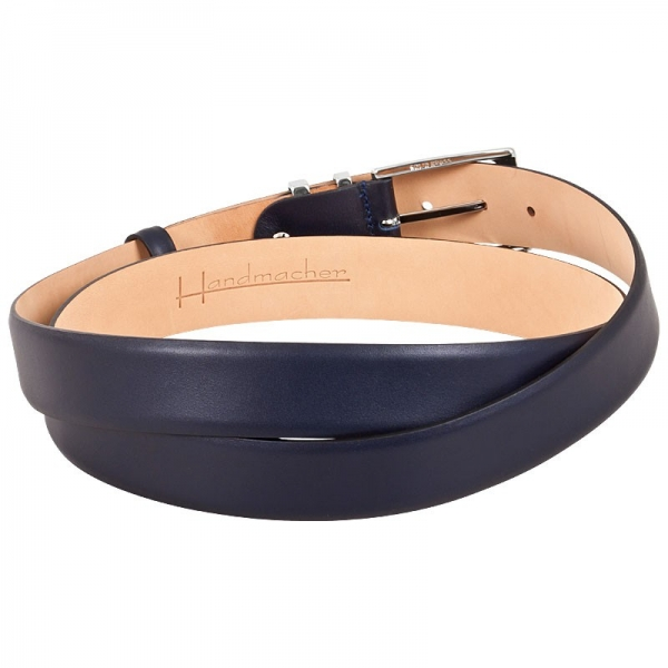 Handmacher blue leather belt