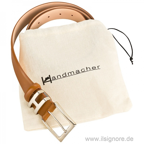 Box calf belt cognac from Handmacher
