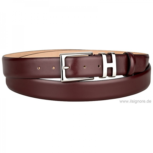 Boxcalf belt red by Handmacher Austria