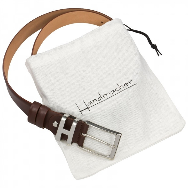 Handmacher brown calf skin belt