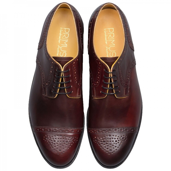Horween shell cordovan shoes by Handmacher