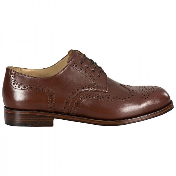 nut brown full brogue derby shoe