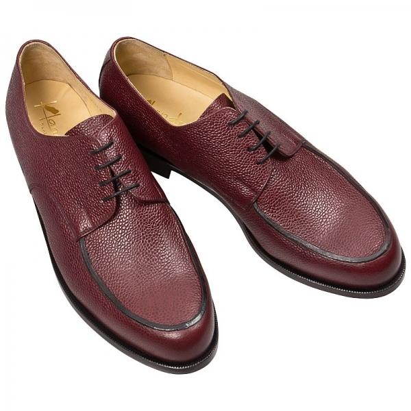 Handmacher ruby colored derby shoe