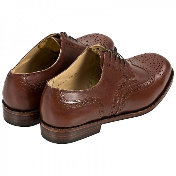 Full Brogue derby shoes made by Handmacher