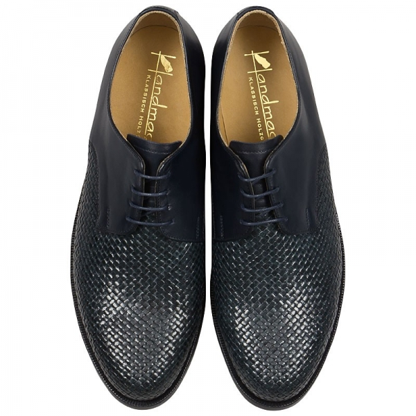Handmacher Handwoven leather shoes for men