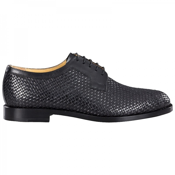 Handmacher woven leather shoe