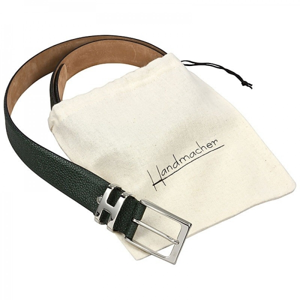 Handmacher belt scotch grain leather green