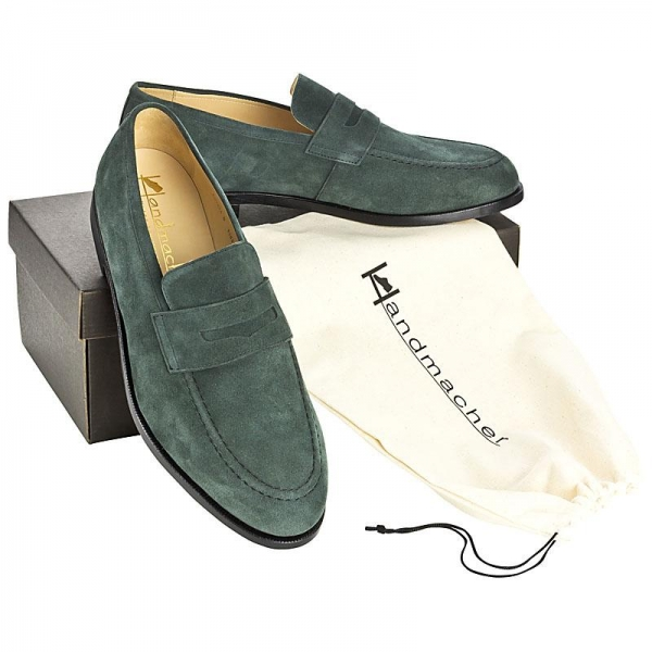 Handmacher model 55 suede green