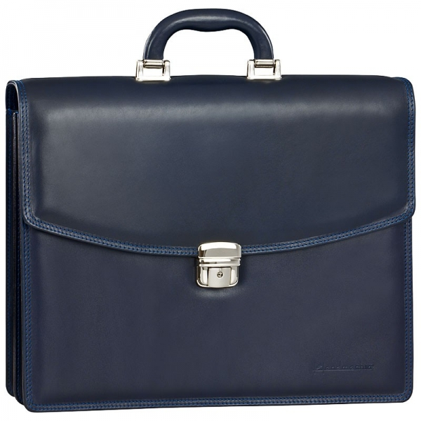Handmacher bag in blue calfskin